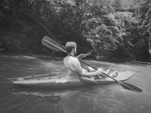 josh in kayak