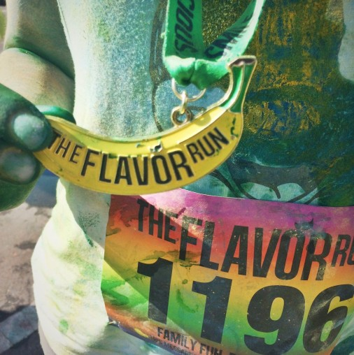 flavor run medal.JPG