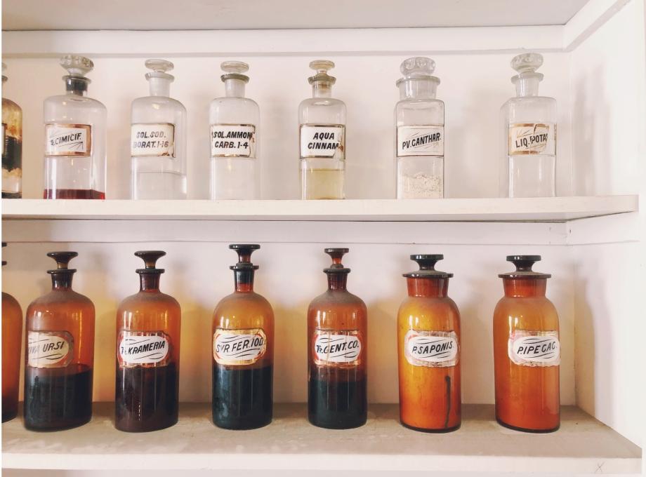 olde pharmacy bottles new orleans